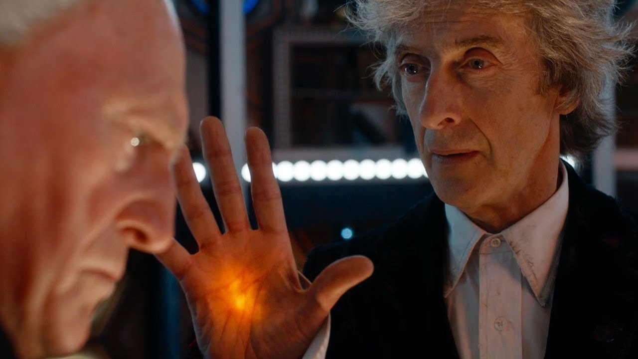 A photo of The First Doctor Enters The Twelfth Doctor's TARDIS - Christmas Special Preview - Doctor Who - BBC
