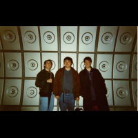 Adam, Philip and Andy play at being the 3 Doctors in the Jubilee Line Tunnels