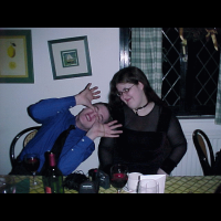 Tom pulling a face so bad that even Lizz is disgusted