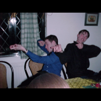 Tom and James try and deal with the Carol singers