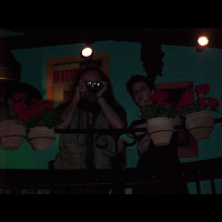 Patric & Clare spying on the bar