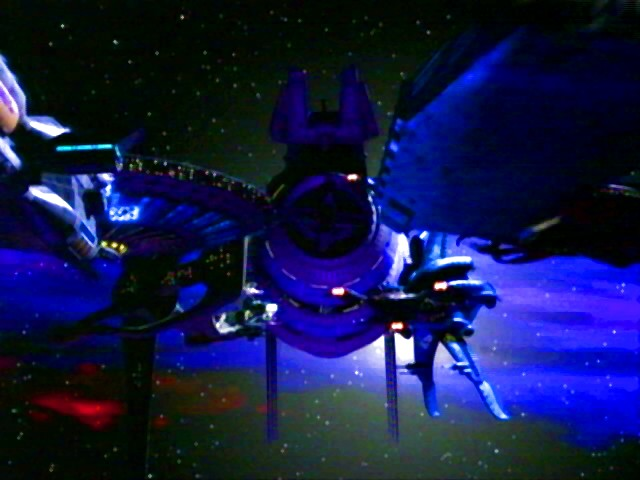 Alliance ships in honour guard formation in front of B5