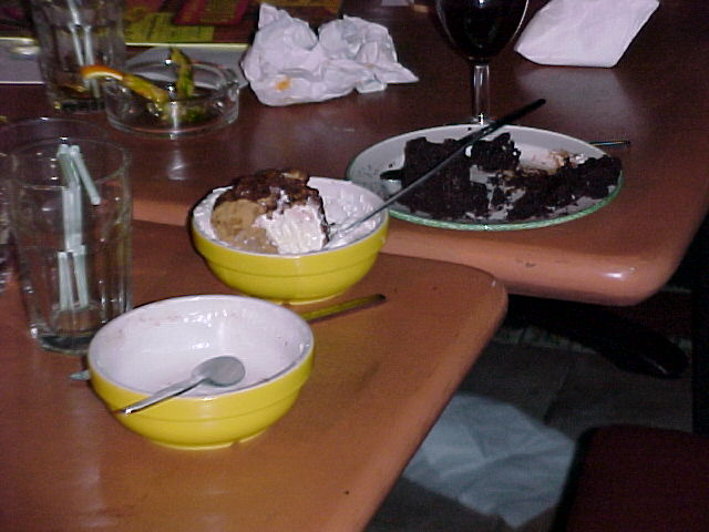 The remains of Steve's epic dessert eating